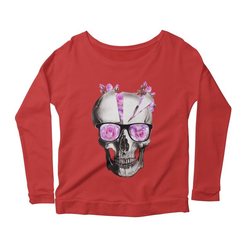 cool skull  Women's Longsleeve Scoopneck  by jun21's Artist Shop