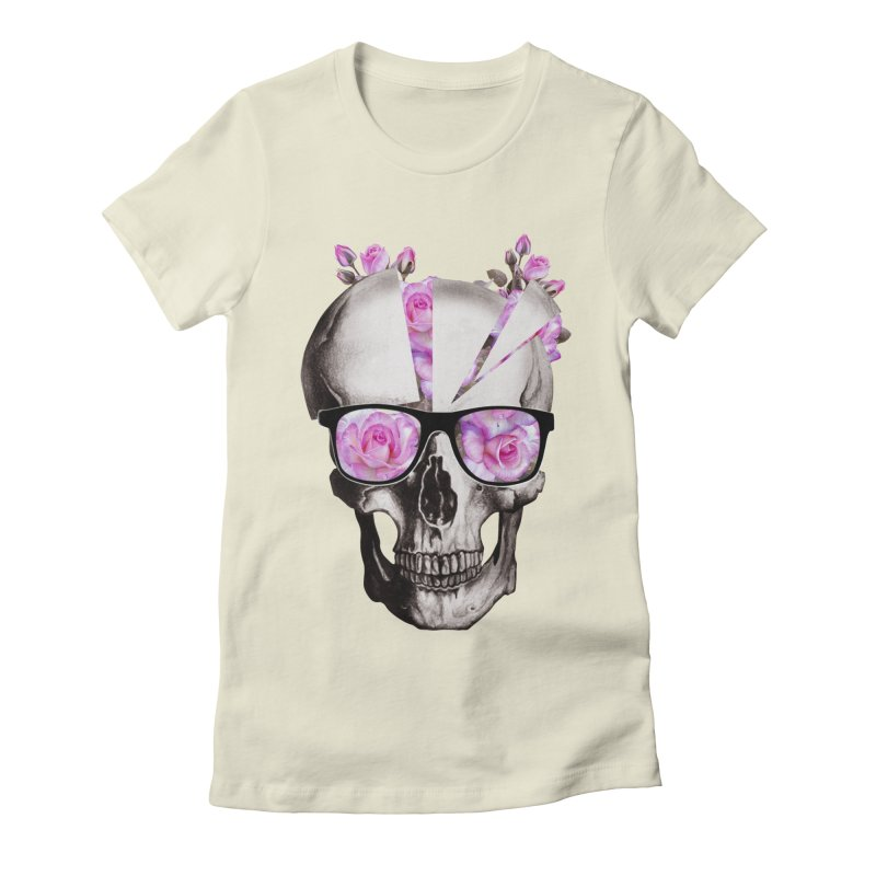 cool skull  Women's Fitted T-Shirt by jun21's Artist Shop