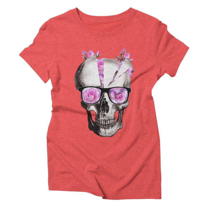 cool skull  Women's Triblend T-Shirt by jun21's Artist Shop