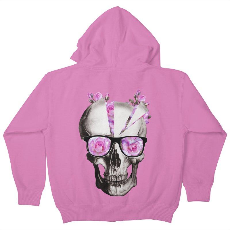 cool skull  Kids Zip-Up Hoody by jun21's Artist Shop