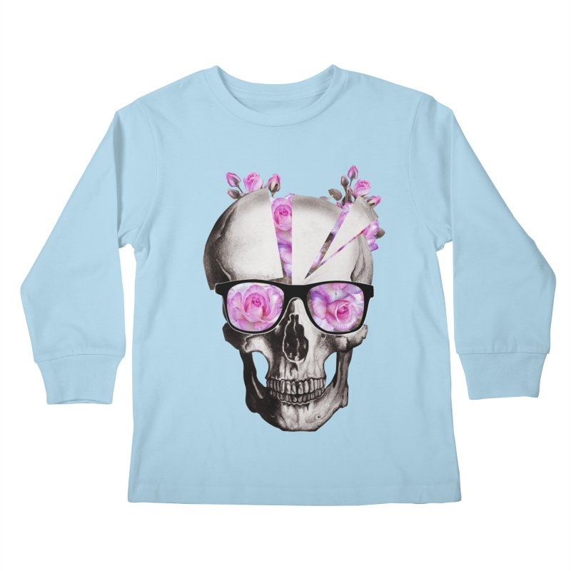 cool skull  Kids Longsleeve T-Shirt by jun21's Artist Shop