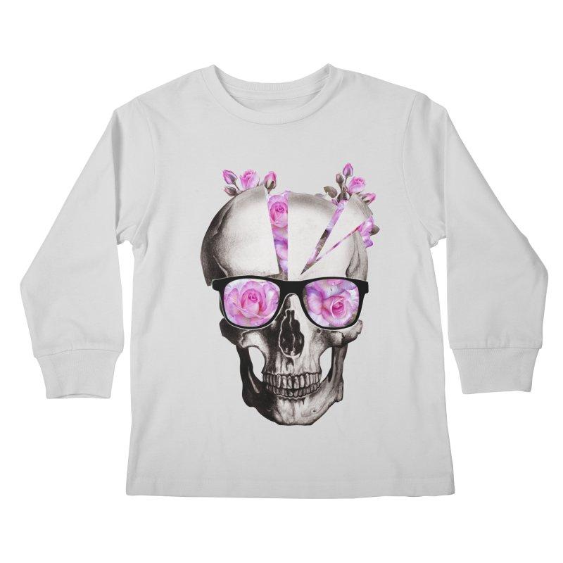 cool skull  Kids Longsleeve T-Shirt by jun21's Artist Shop