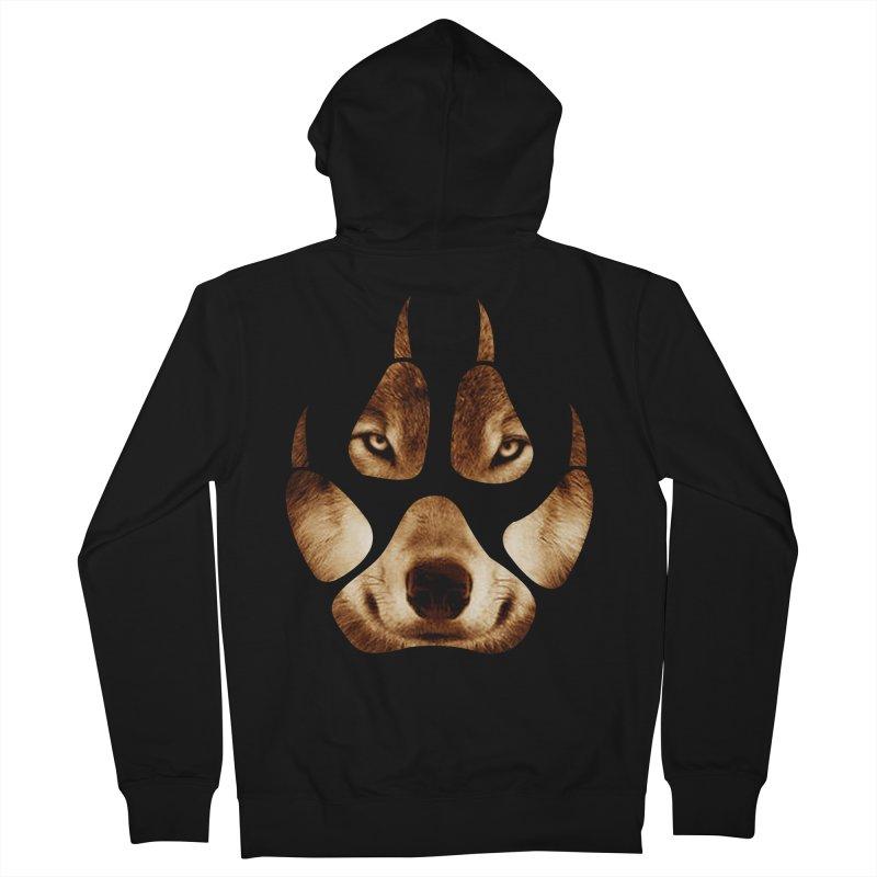 wolf mark  Women's Zip-Up Hoody by jun21's Artist Shop