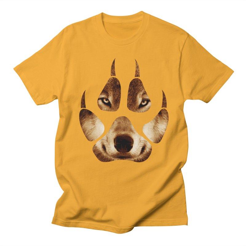 wolf mark  Men's T-shirt by jun21's Artist Shop