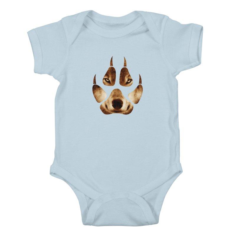 wolf mark  Kids Baby Bodysuit by jun21's Artist Shop