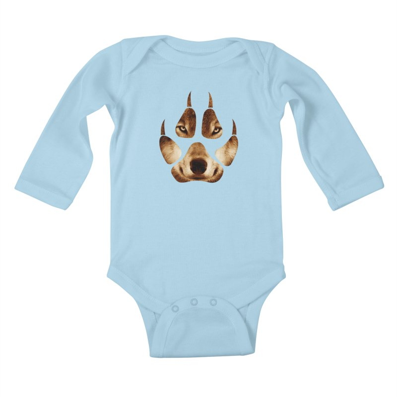 wolf mark  Kids Baby Longsleeve Bodysuit by jun21's Artist Shop
