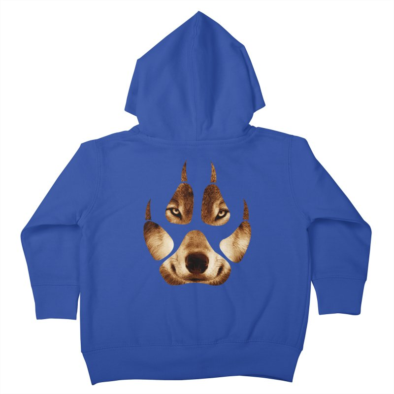 wolf mark  Kids Toddler Zip-Up Hoody by jun21's Artist Shop