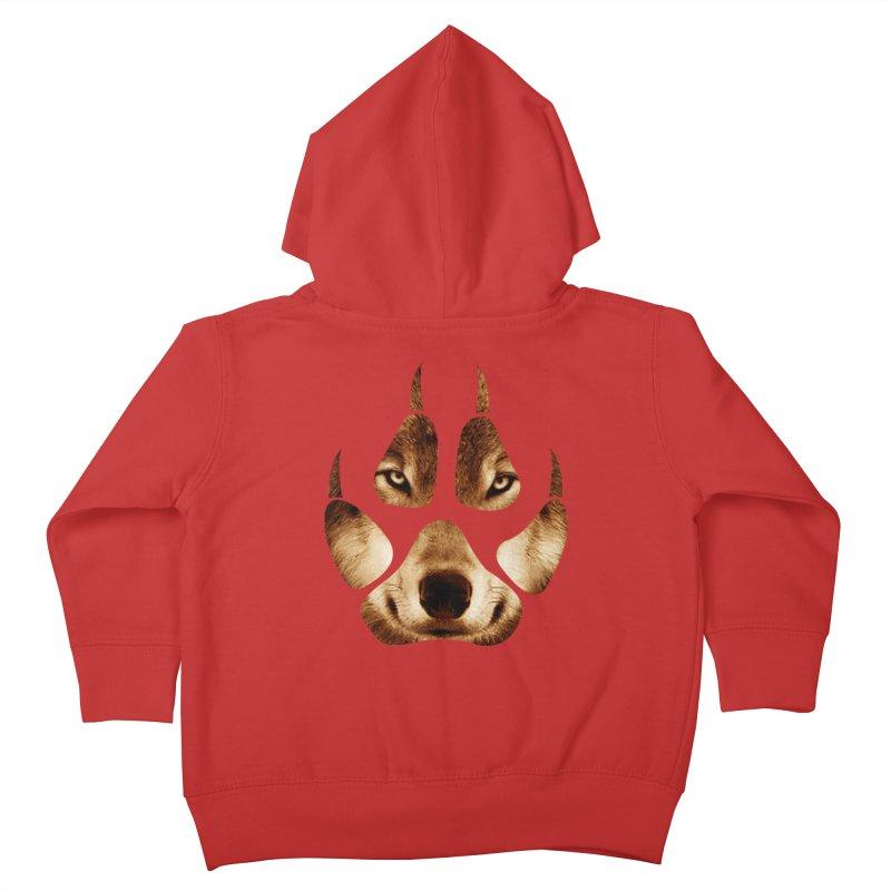 wolf mark  Kids Toddler Zip-Up Hoody by jun21's Artist Shop
