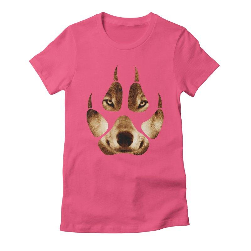 wolf mark  Women's Fitted T-Shirt by jun21's Artist Shop