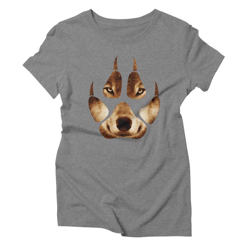 wolf mark  Women's Triblend T-shirt by jun21's Artist Shop
