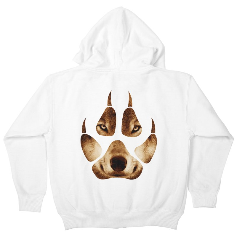wolf mark  Kids Zip-Up Hoody by jun21's Artist Shop