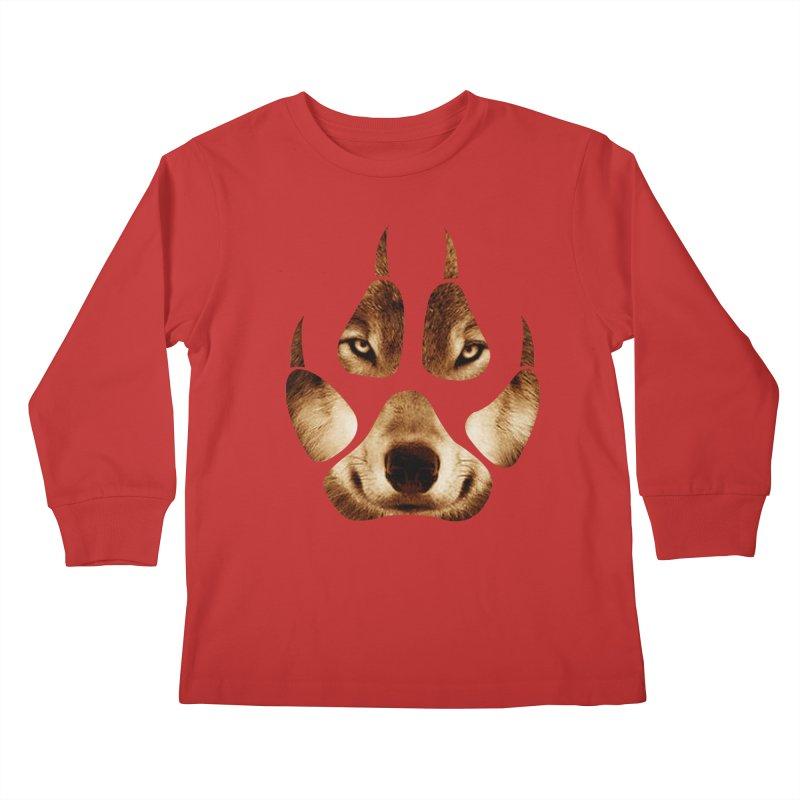 wolf mark  Kids Longsleeve T-Shirt by jun21's Artist Shop