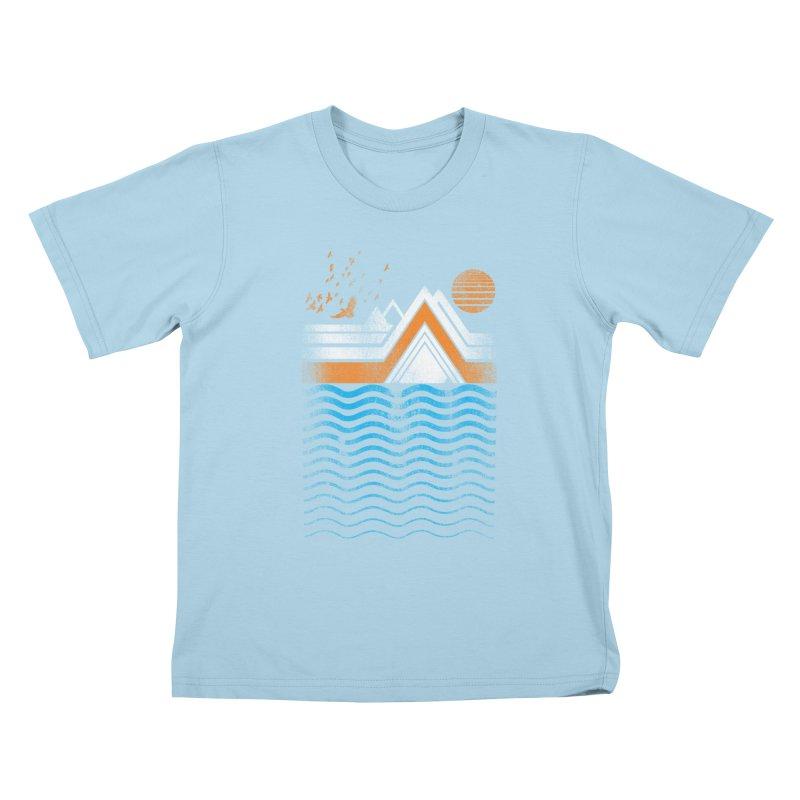 Sunset Kids T-Shirt by jun21's Artist Shop