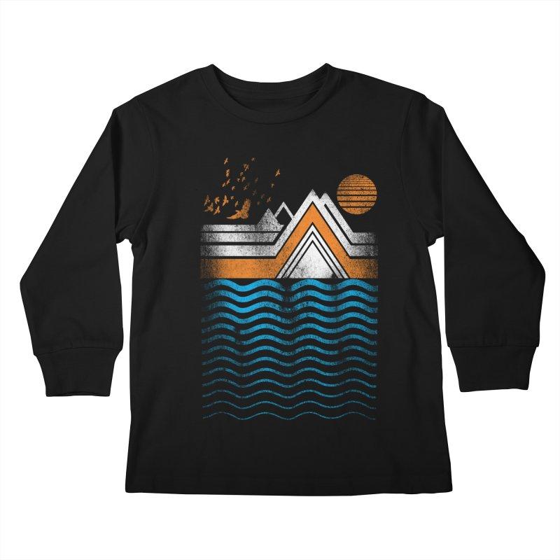 Sunset Kids Longsleeve T-Shirt by jun21's Artist Shop
