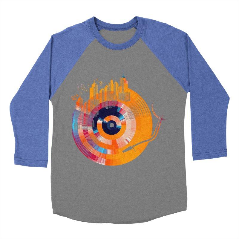 vinyl city Women's Baseball Triblend T-Shirt by jun21's Artist Shop