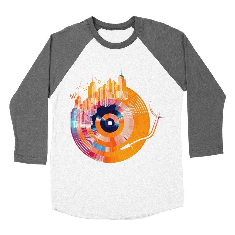 vinyl city Men's Baseball Triblend T-Shirt by jun21's Artist Shop