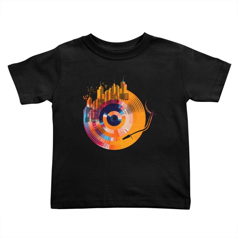 vinyl city Kids Toddler T-Shirt by jun21's Artist Shop