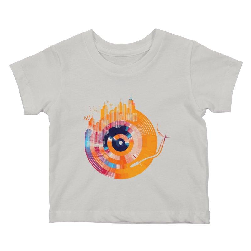 vinyl city Kids Baby T-Shirt by jun21's Artist Shop