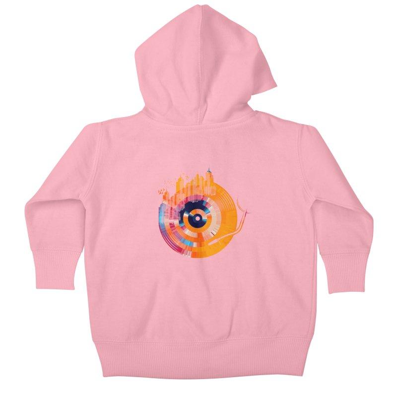 vinyl city Kids Baby Zip-Up Hoody by jun21's Artist Shop