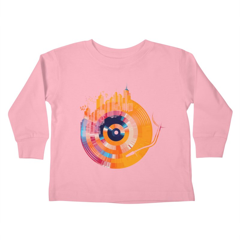 vinyl city Kids Toddler Longsleeve T-Shirt by jun21's Artist Shop