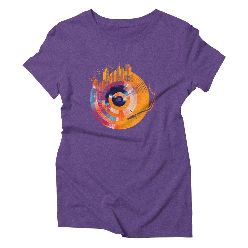 vinyl city Women's Triblend T-Shirt by jun21's Artist Shop