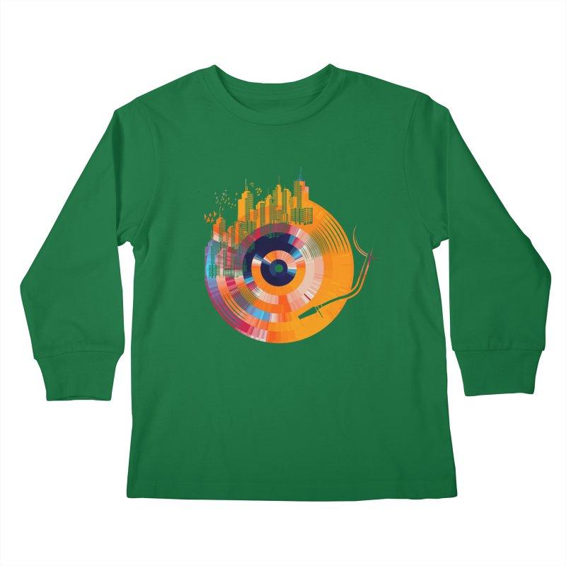 vinyl city Kids Longsleeve T-Shirt by jun21's Artist Shop