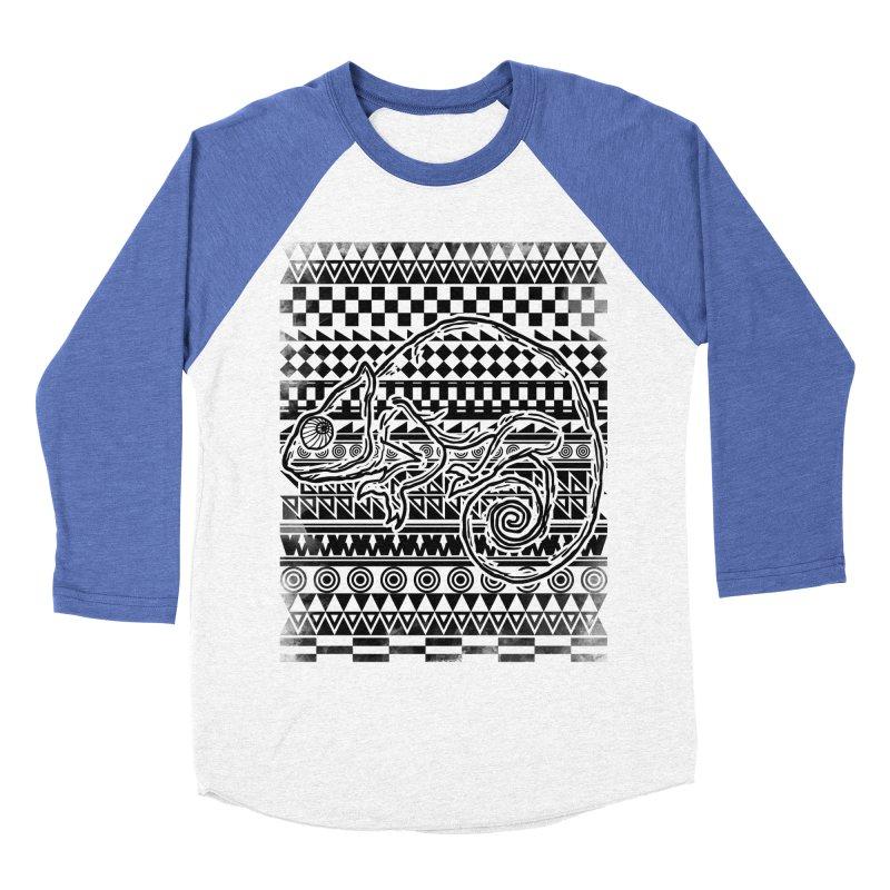 Chameleon Men's Baseball Triblend T-Shirt by jun21's Artist Shop
