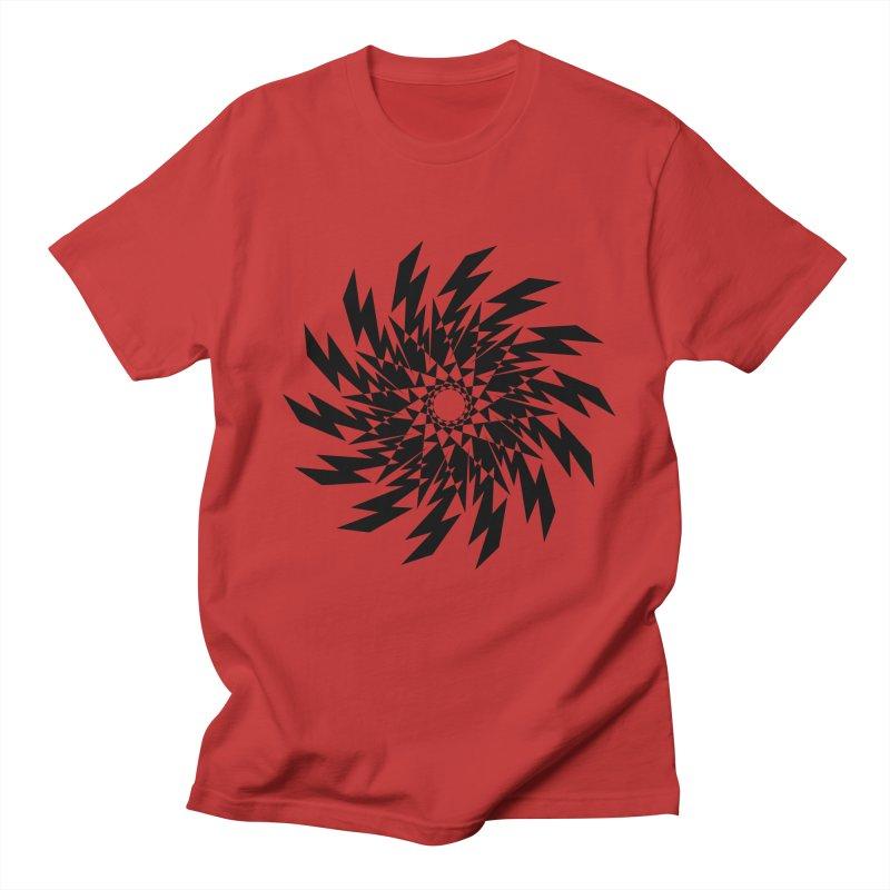 geometric lights Men's T-Shirt by jun21's Artist Shop