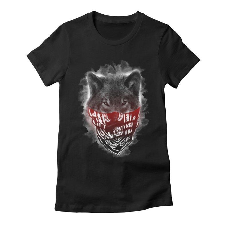 gangster Women's Fitted T-Shirt by jun21's Artist Shop
