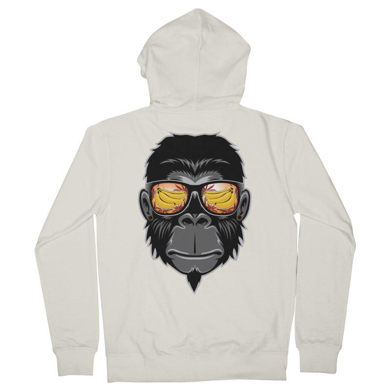 cool monkey Women's Zip-Up Hoody by jun21's Artist Shop