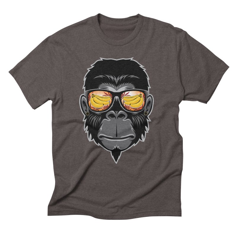 cool monkey Men's Triblend T-Shirt by jun21's Artist Shop