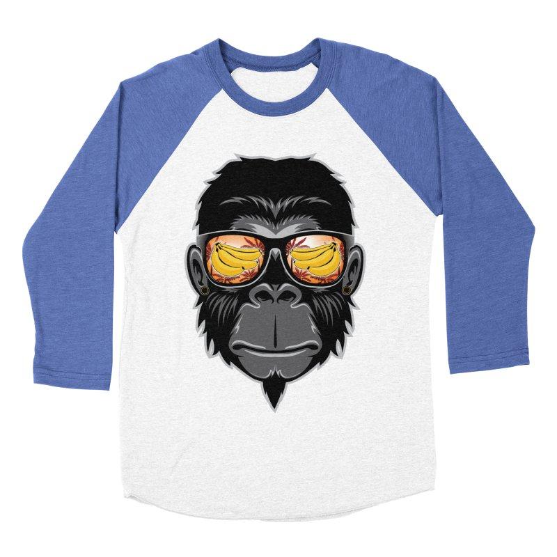 cool monkey Women's Baseball Triblend T-Shirt by jun21's Artist Shop