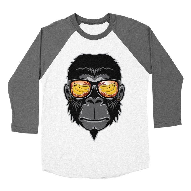 cool monkey Men's Baseball Triblend T-Shirt by jun21's Artist Shop