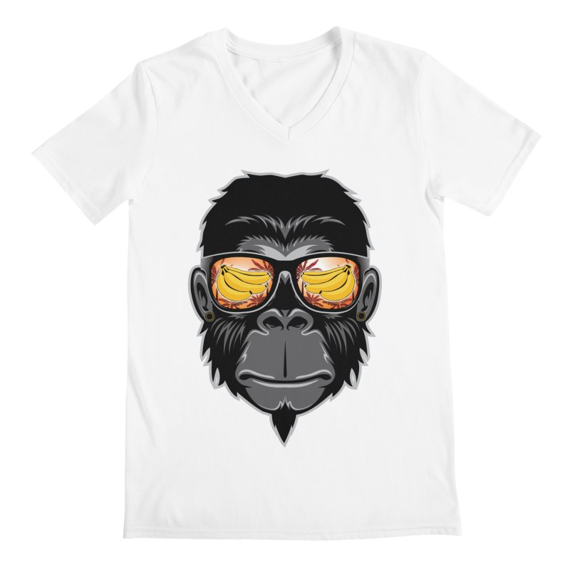 cool monkey Men's V-Neck by jun21's Artist Shop