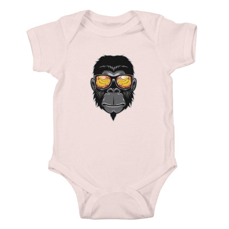 cool monkey Kids Baby Bodysuit by jun21's Artist Shop