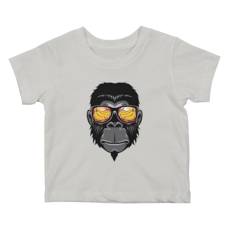 cool monkey Kids Baby T-Shirt by jun21's Artist Shop