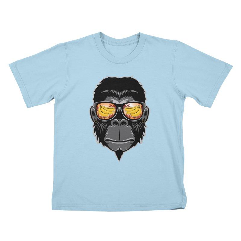 cool monkey Kids T-Shirt by jun21's Artist Shop