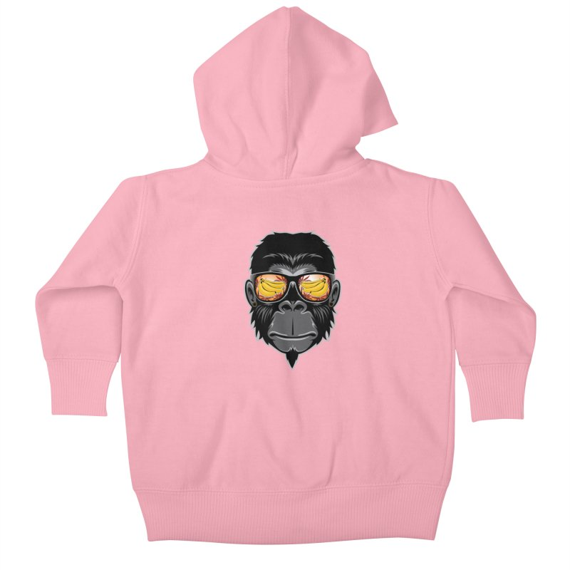 cool monkey Kids Baby Zip-Up Hoody by jun21's Artist Shop