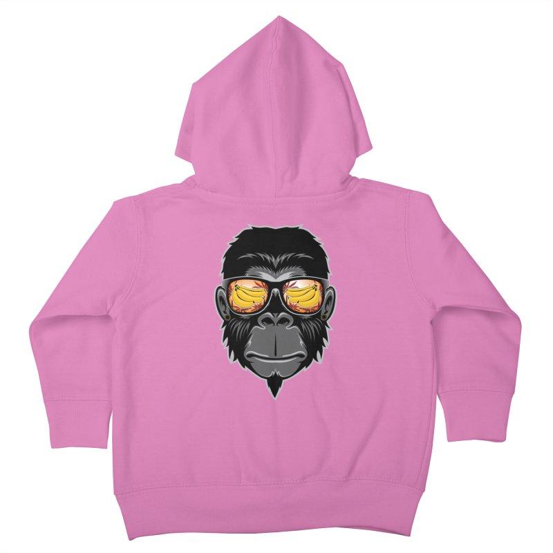 cool monkey Kids Toddler Zip-Up Hoody by jun21's Artist Shop