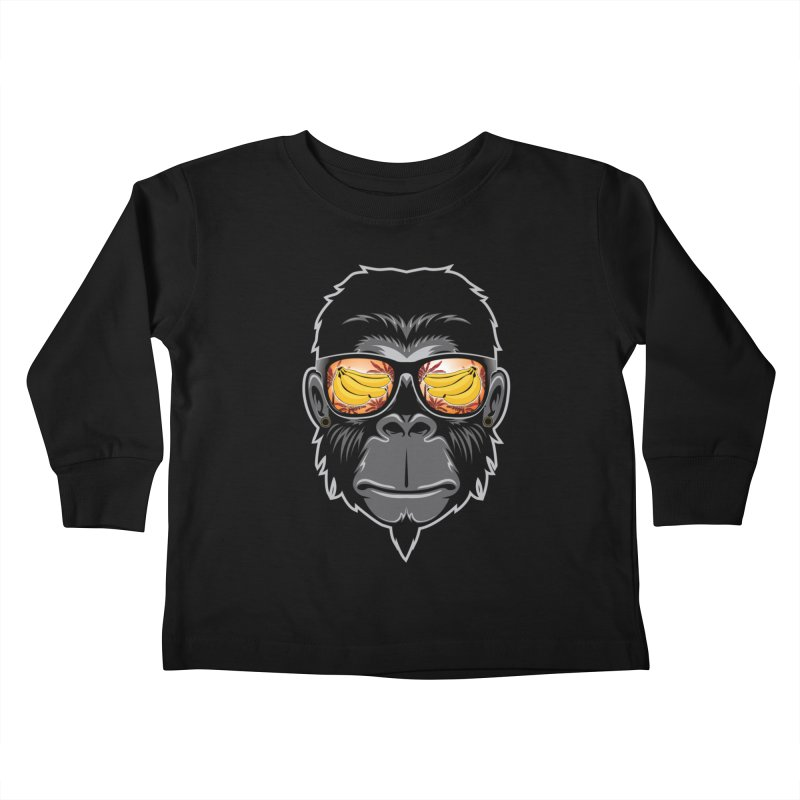 cool monkey Kids Toddler Longsleeve T-Shirt by jun21's Artist Shop