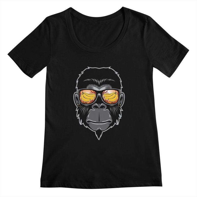 cool monkey Women's Scoopneck by jun21's Artist Shop