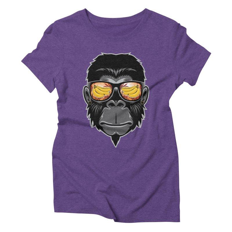 cool monkey Women's Triblend T-Shirt by jun21's Artist Shop