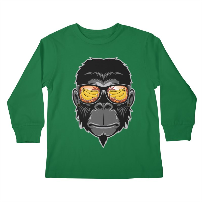 cool monkey Kids Longsleeve T-Shirt by jun21's Artist Shop