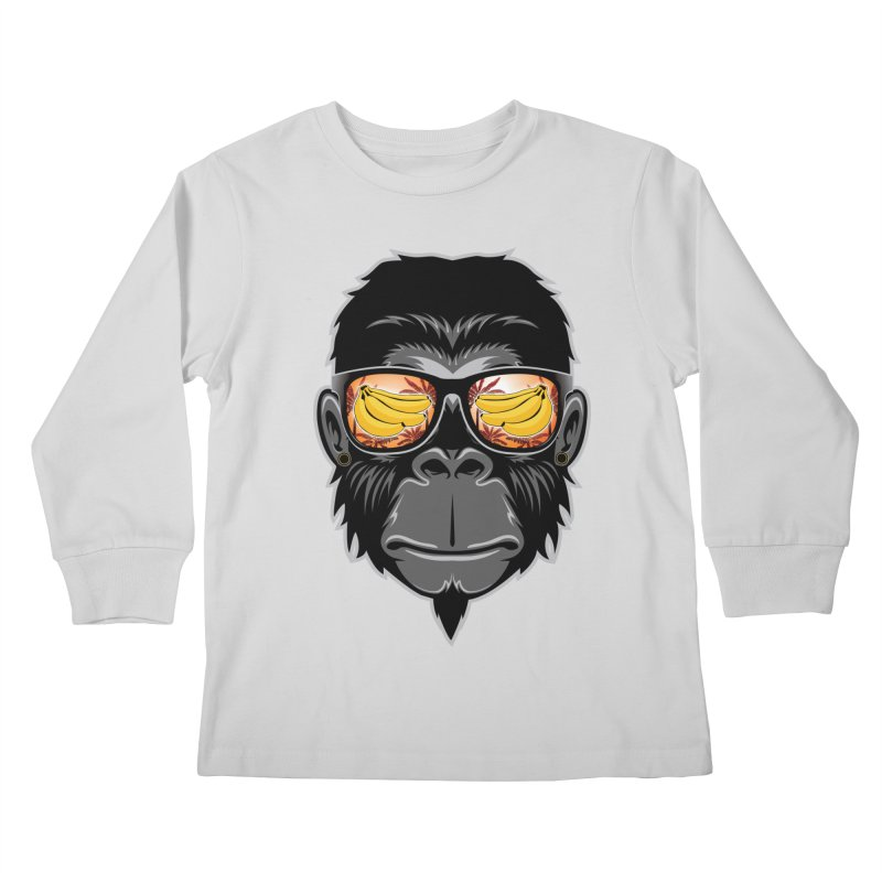 cool monkey Kids Longsleeve T-Shirt by jun21's Artist Shop