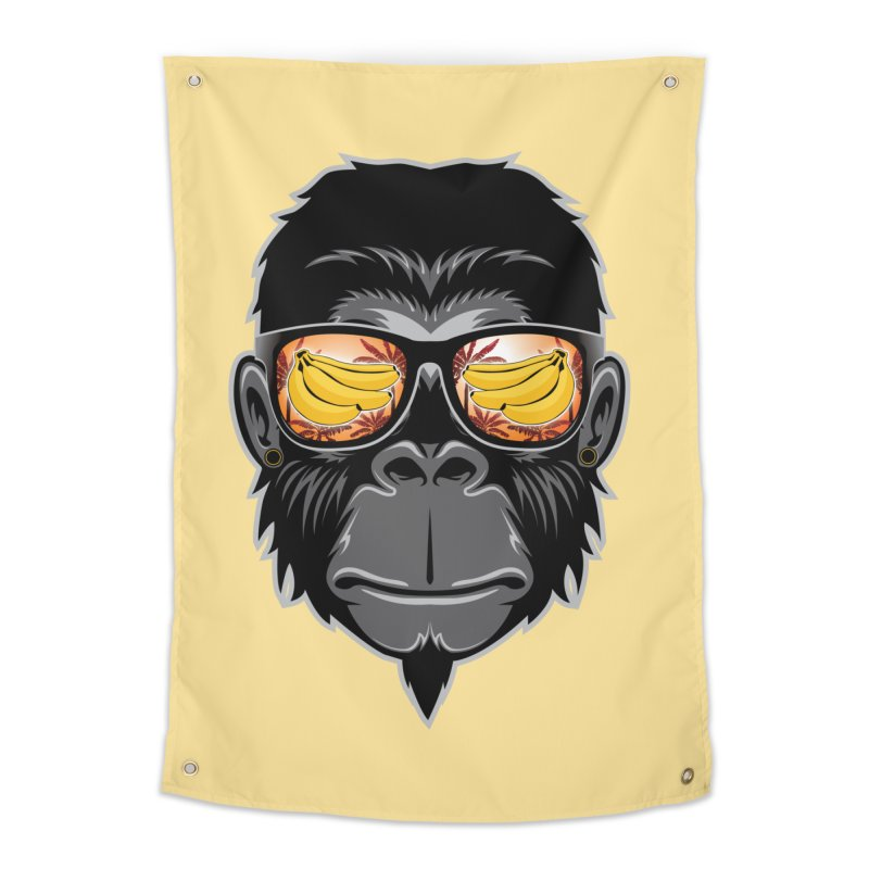 cool monkey Home Tapestry by jun21's Artist Shop