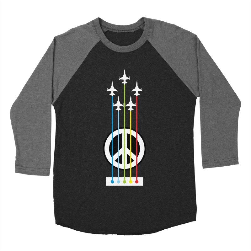 make peace not war Men's Baseball Triblend T-Shirt by jun21's Artist Shop