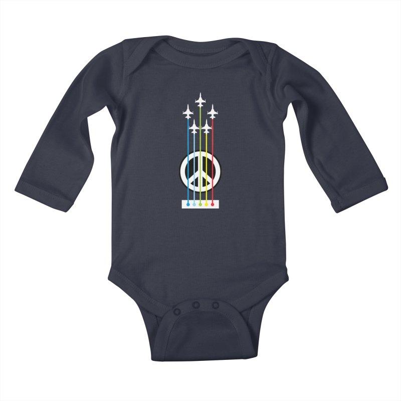 make peace not war Kids Baby Longsleeve Bodysuit by jun21's Artist Shop
