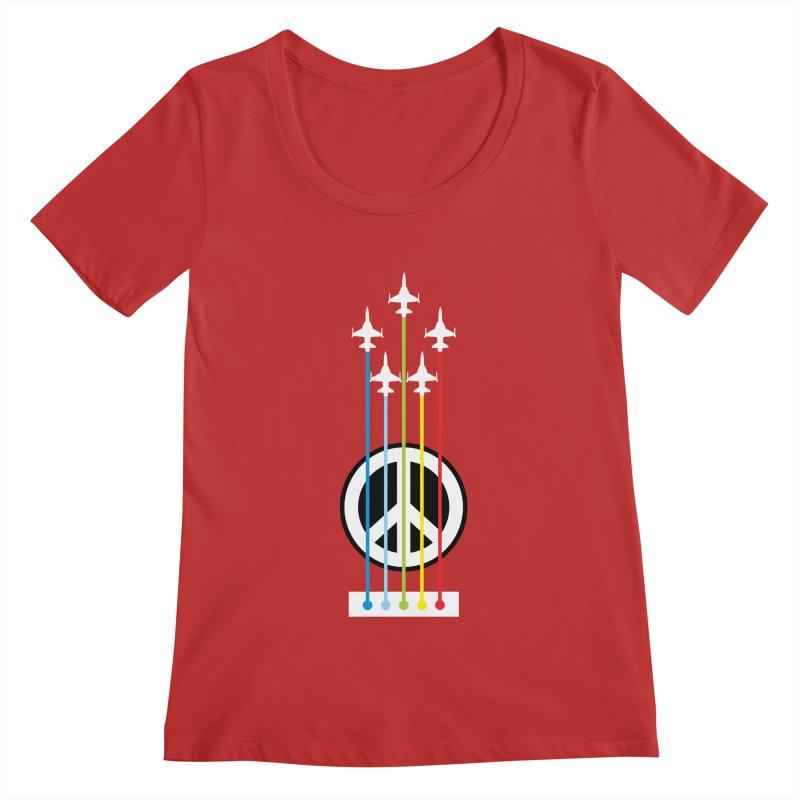 make peace not war Women's Scoopneck by jun21's Artist Shop