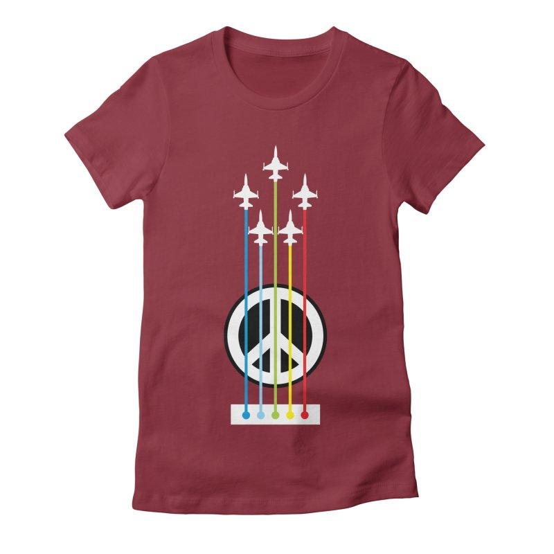 make peace not war Women's Fitted T-Shirt by jun21's Artist Shop