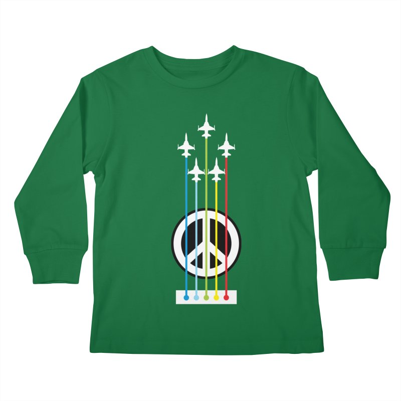 make peace not war Kids Longsleeve T-Shirt by jun21's Artist Shop
